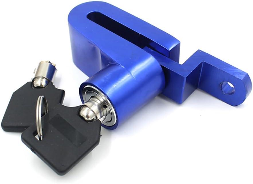 Leorx Bremsscheibenschloss Motorrad Sicherheit Anti Diebstahl Disk Scheibenbremse Rotor Fahrradschloss Blau Auto