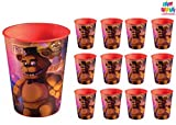 Five Nights at Freddy's Party Favor Cups Supplies - 12 Count 16 oz. Reusable Cups - 1 HeyDays Happy Birthday Tattoo