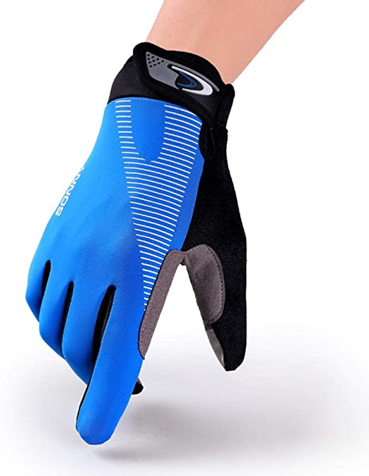Tingxx Fashion Sports Running Fitness Gloves Yoga Gloves Mountaineering Riding High Elastic Touch Screen Gloves Blue_L: Amazon.es: Hogar