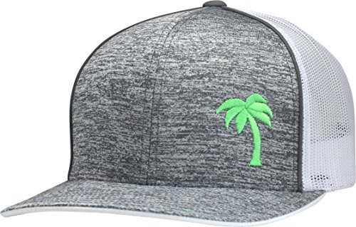 Lindo Trucker Hat - Palm Tree Series (Static Gray/Neon)