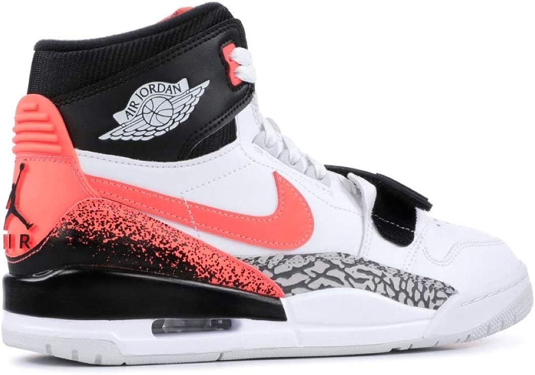 Nike Jordan Max Aura, Chaussures de Basketball Homme Blanc Lave Chaude
