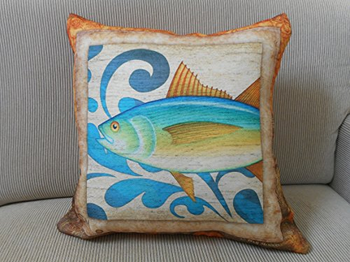Tuna Fish Canvas Throw Pillow Cover