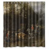 Eyeselect Width X Height / 72 X 72 Inches / W H 180 By 180 Cm Art Painting Jan Siberechts - The Nosy Cow Shower Drape Polyester Fabric Ornament And Gift To Birthday Hotel Him Girls. Wipe