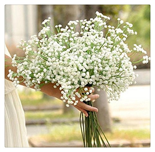 Buedvo 1 Head Artificial Gypsophila Flower Fake Silk Wedding Party Home Decor
