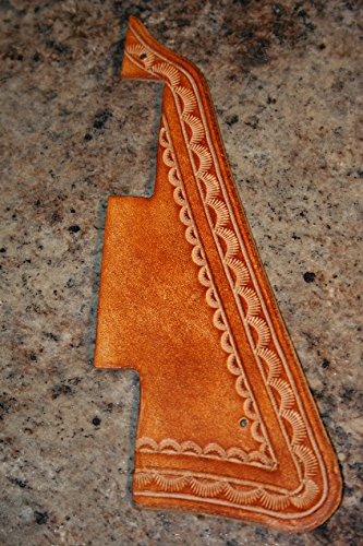 Leather Pick Guard - Gibson Les Paul - Hand Tooled -