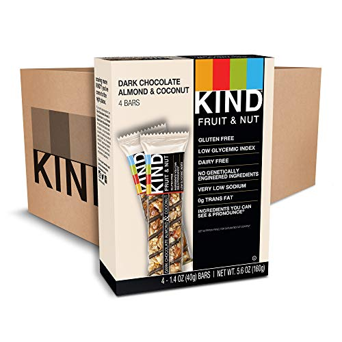 KIND Bars, Chocolate Almond & Coconut , Gluten Free, Low Sugar, 48 Count