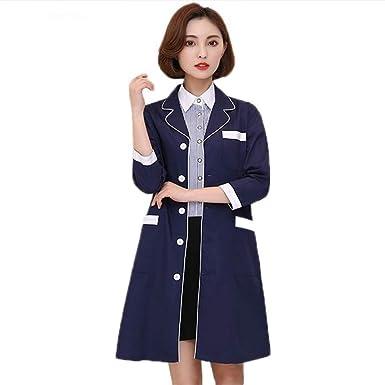 ESENHUANG Batas Médicas Lab Coat Hospital Hombres Y Mujeres Trabajar Vestido Salón De Belleza Ropa De Uniforme De Farmacia: Amazon.es: Ropa y accesorios