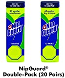 NipGuards Double-Pack (20 Pairs) - Guaranteed Nipple Protection Since 1998 for Endurance Athletes. Complete Protection in All Race Distances - Even Ultra Marathon 100 Milers! Water Proof. Sweat Proof.