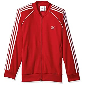 adidas Originals Men's Tops Superstar Track, Scarlet, X-Large