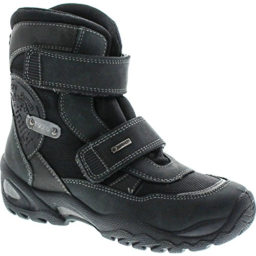 Primigi Kids Boots (Primigi Boys Ivory-E Waterproof Goretex Tall Shaft Winter Boots,Black,33)
