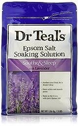 Dr. Teal\'s Epsom Salt Soaking Solution, Lavender, 4 bags(3lb/bag)