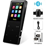 MP3 Player with Bluetooth, Grtdhx 8GB Portable Digital Music Player Support FM Radio Photo Browsing Video Play Pedometer Voice Recorder Text Reading with Earphone Armband for Sport Running