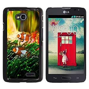 Be Good Phone Accessory // Dura Cáscara cubierta Protectora Caso Carcasa Funda de Protección para LG Optimus L70 / LS620 / D325 / MS323 // Fish Tropical Underwater Coral Reed Diving