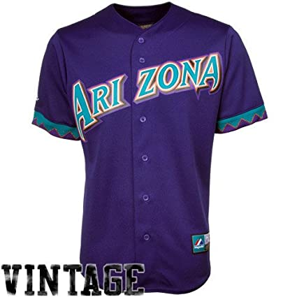 3885fe3e0 Majestic MLB Arizona Diamondbacks Cooperstown Throwback Jersey - Purple  (X-Large)