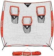 GoSports Football Trainer Throwing Net | Choose Between 8' x 8' or 6' x 6' Nets | Improve QB T