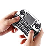 LESHP a50 21S Mini 2.4 G Wireless Multifunctional Computer Table PC Hand-Held Portable Keyboard English for Pad, Grey
