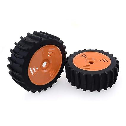 LeKing - Juego de 4 Llantas de Goma hexagonales de 17 mm para Ruedas Delanteras y