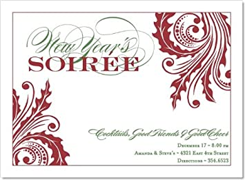 noteworthy collections formal new years party invitations new years soire white invitation pack