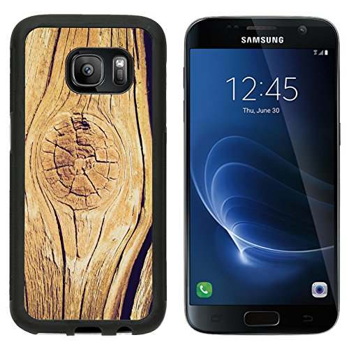 MSD Premium Samsung Galaxy S7 Aluminum Backplate Bumper Snap Case Vintage looking Old wood plank board background Image ID 27204013
