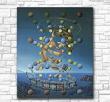 REDWPQ Salvador Dali Galatea de Las esferas Pintura al óleo Arte de la Pared Pinturas Cuadro Paiting Lienzo Pinturas Decoración para el hogar Pintura Impresa 40 * 60 cm sin Marco