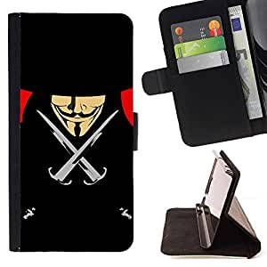 Momo Phone Case / Flip Funda de Cuero Case Cover - Vendetta Anonymous Anon Negro Libertad - LG Nexus 5 D820 D821