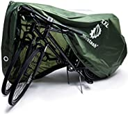 YardStash Bike Cover - Bicycle Covers, Outdoor Storage, Waterproof - XXL for 2-3 Bikes - Cycle Tarp for Trikes