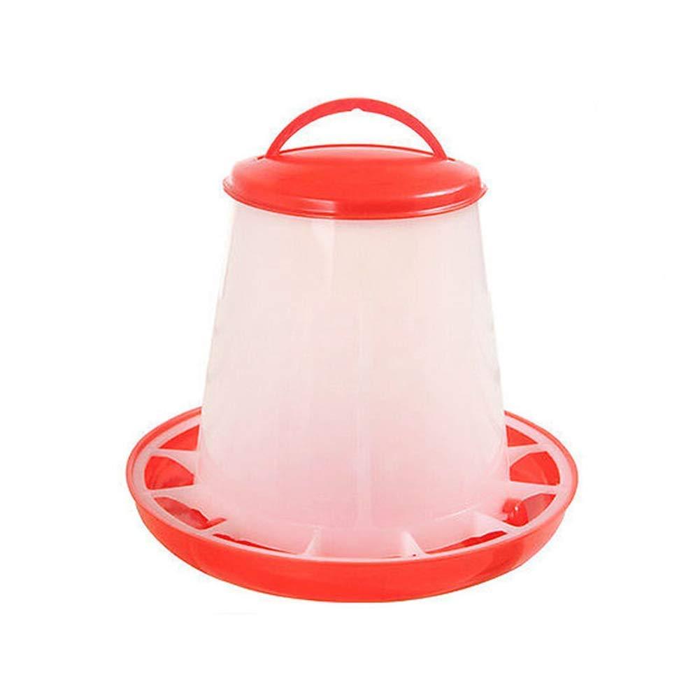 Vektenxi Premium Qualit/ät Kunststoff Huhn Wachtel Gefl/ügel K/üken Henne Trinker Nahrungszufuhr Waterer Eimer 1.5L