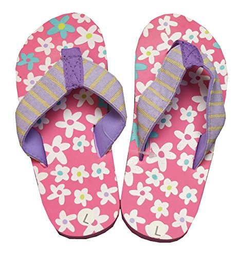 Hatley Lbh Kids Flip Flops-Fresh Flowers, Chanclas para Niñas Rosa - rosa (rosa)
