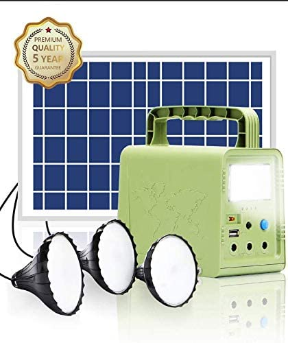 ECO-WORTHY 84Wh PRO Portable Power Station, Solar Generator with Solar Panel and LED Lamp for Power Outage,Outdoor Camping, lighting System Fishing, Hunting, Home Emergency Power Supply, Hurricane