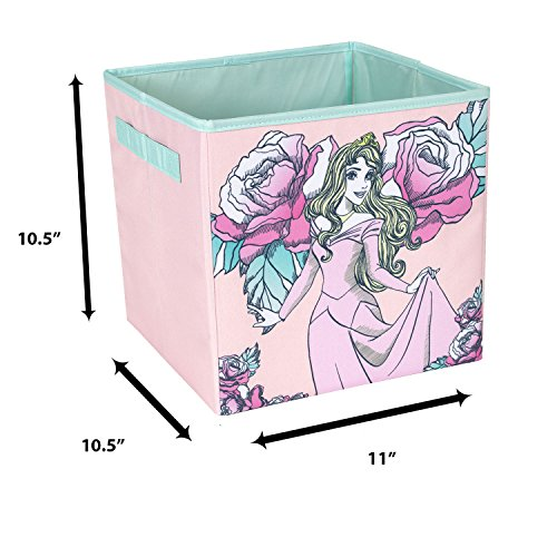Sleeping Beauty Collapsible Storage Bin by Disney - Cube Organizer for Closet, Kids Bedroom Box, Nursery Chest - Foldable Home Decor Basket Container with Strong Handles and Design by Everything Mary (Image #5)