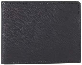 Joseph Abboud Men's Pebble Grain Bifold Leather Passcase Wallet, Black, One Size
