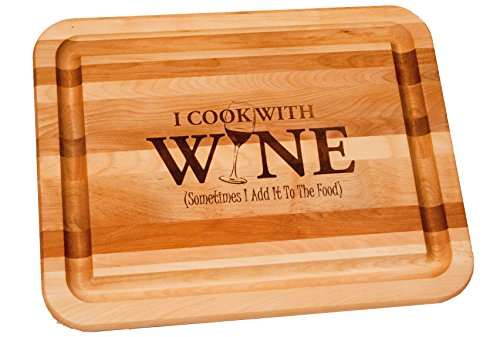 (Catskill 1335 I Cook with Wine Kitchen Board Brown)