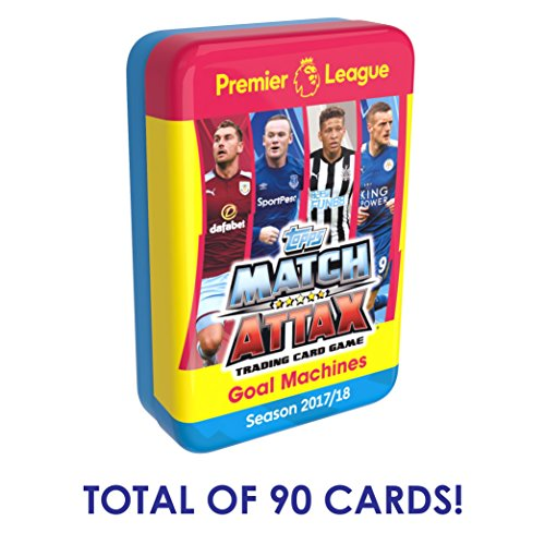 2017-18 TOPPS MATCH ATTAX PREMIER LEAGUE MEGA TIN (90 CARDS TOTAL+ LE GOLD CARD) LOOK FOR POGBA, KANE, IBRAHIMOVIC & MORE! DON'T CONFUSE WITH SMALLER 60 CARD TINS *SHIPS FROM USA*