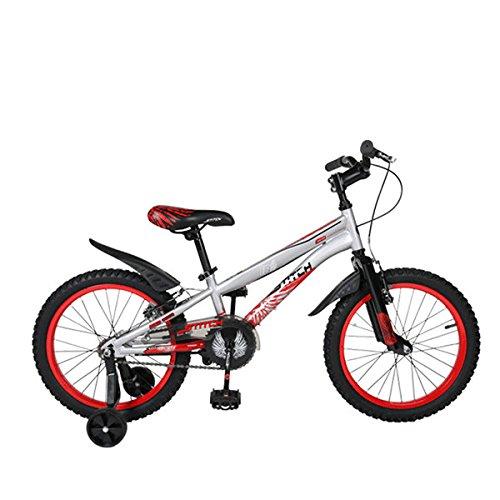 Cyfie ホーク 子供用自転車 18インチ 補助輪付 前後泥よけ付 男の子 女の子 小学生  簡単に安装 スポーティサドル B01HOA8L9Uレッド