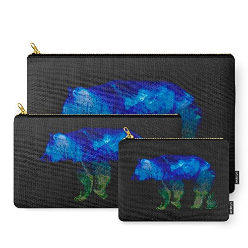 Society6 Grizzly In The Shadows Carry-All Pouch Set of 3