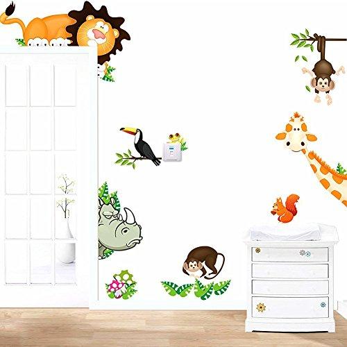 Galaxia Air large Wall Stickers/Kids wall decals/wall transfers/wall tattoos/Graffiti backdrop stickers whale animal blackboard (Jungle Trees Backdrop)