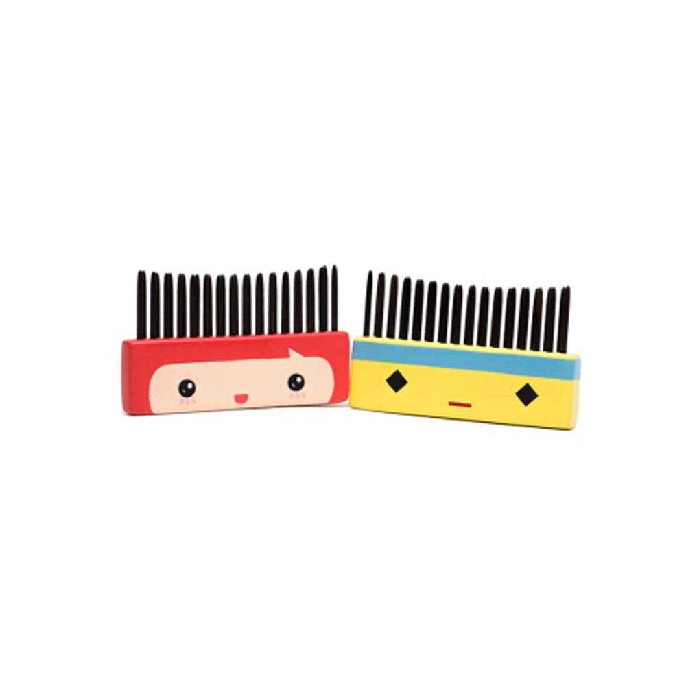 WUZHONGDIAN Comb, Couple Wooden Comb Shun Hair Massage Comb To Men And Women Friends Comb, Red, Yellow. by WUZHONGDIAN