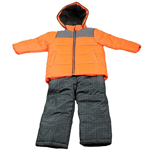 Carter's Little Boys' Toddler Heavyweight Bubble 2 Pc Snowsuit, Orange, 2T (Joker Suit For Sale)