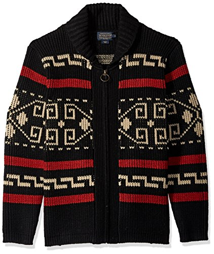 Pendleton Men's The Original Westerley Sweater, Black/Cream, LG ()