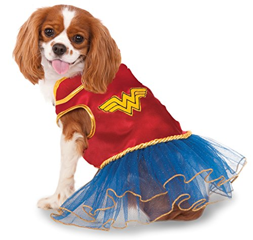 DC Comics Wonder Woman Pet Tutu Dress, (Wonder Pets Dog Costume)