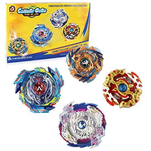 BBwin Bey Battle Burst Set Evolution Battling Tops 4D Gyros Toy with Launchers and Arena for Children Boy Spinning Top Game