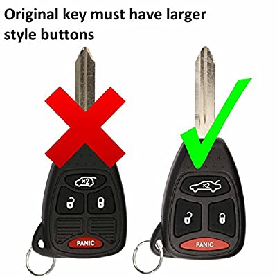 KeylessOption Just the Case Keyless Entry Remote Control Car Key Fob Shell Replacement for KOBDT04A: Automotive