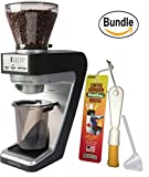 Baratza Sette 30 Conical Burr Grinder with AP Burr Inside, Brushtech Coffee Grinder Dusting Brush & Zonoz One-Tablespoon Plastic Clever Scoop (Bundle)