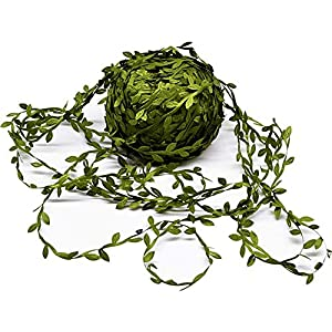 Artificial Vines, 131Ft Artificial Plants Leaves Decor Garland Fake Hanging Silk Ivy Garlands Green Leaves Foliage Flowers Ribbon Wreath for Wedding Party Wall Crafts Party Indoor Outdoor DIY Decor 1