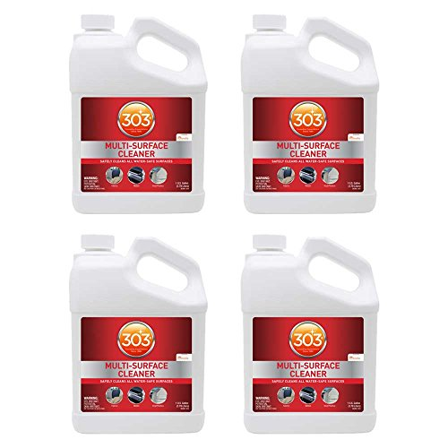 303 Multi Surface Cleaner Spray, All Purpose Cleaner for Home, Patio, Car Care and Outdoor, 128 fl. oz., (Pack of 4) (Best Automotive Interior Cleaner)