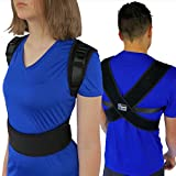 "ComfyMed Posture Corrector Clavicle Support Brace CM-PB16 Medical Device to Improve Bad Posture, Thoracic Kyphosis, Shoulder Alignment, Upper Back Pain Relief for Men and Women (REG (29""-40"" Chest))"