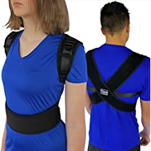 "ComfyMed® Posture Corrector Clavicle Support Brace CM-PB16 Device to Improve Bad Posture, Thoracic Kyphosis, Shoulder Alignment, Upper Back Pain Relief for Men and Women (REG (29""-40"" Chest))"