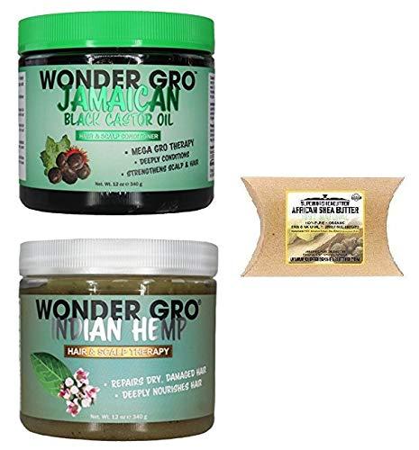 (Wonder Gro Hair&Scalp Care (BLACK-CASTOR-OIL&INDIAN-HEMP&SHEA-BUTTER))