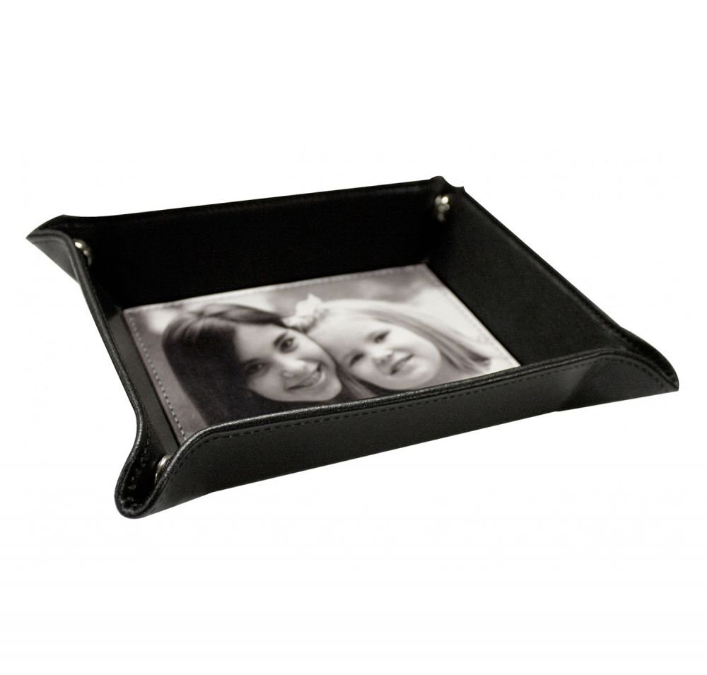 Sea Horses Genuine Leather Valet Tray (Personalized) by RNK Shops (Image #2)