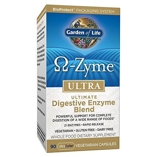 arian Digestive Supplement - Omega Zyme ULTRA Enzyme Blend for Digestion, Bloating, Gas, and IBS, 90 Capsules ()